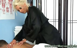 hawt babe masseuse and client