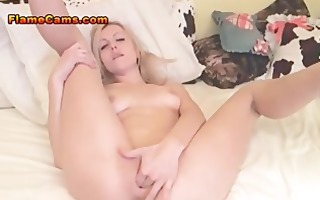 little boobs golden-haired babe