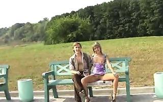 turned-on playgirl has public flashing pleasure