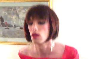 sissy crossdresser takes bbc sex tool in hotel