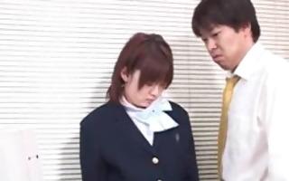 oriental schoolgirl gets ass spanked