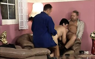 wicked older woman acquires her cum-hole drilled