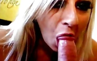 blond smoker lilly kingston gives head