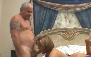 cuckold horny chick drilled by old rich chap