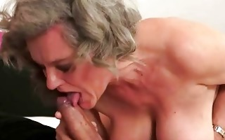 busty grandma making love with her juvenile