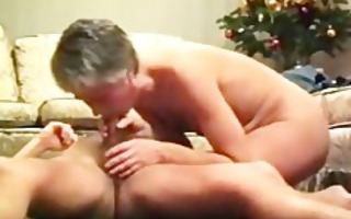 horny aged playgirl sucks and rides penis