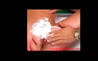 youthful rocco siffredi shaving golden-haired