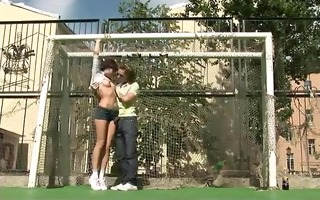 russian legal age teenager pair having sex in