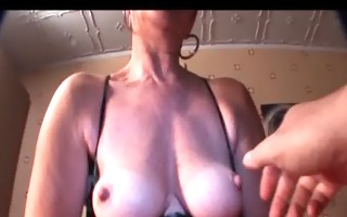 aged honey in underware pleasing cunt with sex-toy
