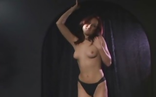 naughty redhead babe jerking dudes cock