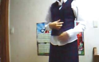 korean dilettante school uniform masturbation