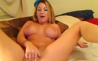 super hawt chick toying both holes at one time