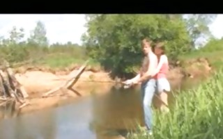 russian pair fucking by the river