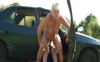 car driver bangs granny doxy