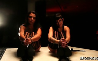 hawt bound up lesbos punished on the floor