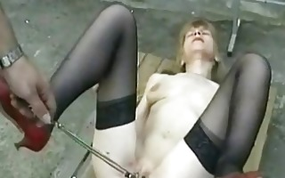 hot and lascivious bondman is spanked on her