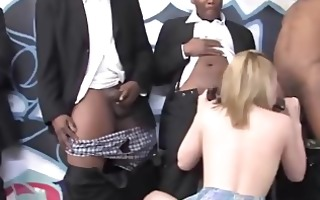interracial gang gangbang knob engulfing