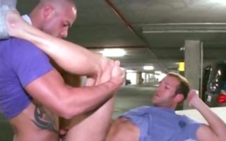 homosexual guys wang engulfing and fucking in