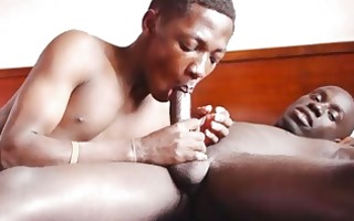 gay african face hole and hands hard at sex work