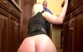 gorgeous golden-haired mommy receives smashed