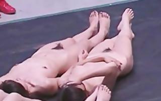 subtitled biggest group of japanese nudists word
