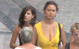 candid - superlatively good of - breasty bouncing