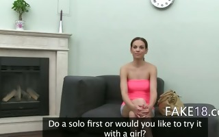 18yo gal having sex on fake audition