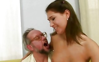 grand-dad enjoying nasty sex with sexy legal age