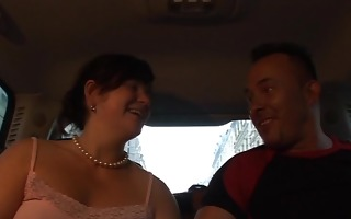 stud pulls honey off street and porks her in car