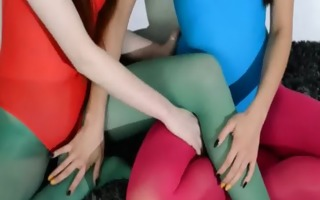 hairy lesbos in nylon underware loving