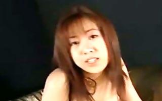 asian angel in lingerie masturbating fingering
