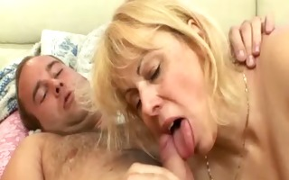plump granny humping with young hunk
