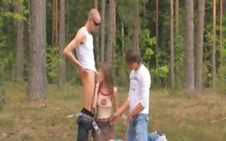 non-professional estonian trio in the forest