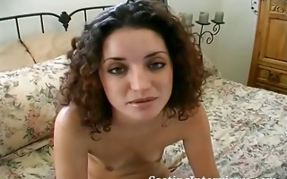 curly haired hottie is cast for anal scene