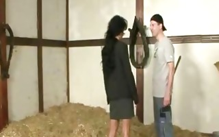 german cougar acquire drilled in a barn