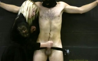female-dominant handjobs her bondman for his