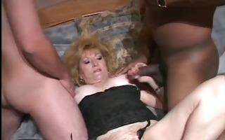 hot granny wife tries a bbc (cuckold)