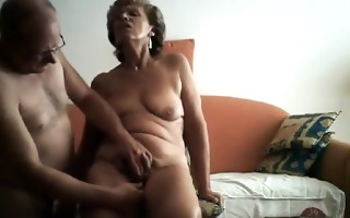sexually excited granny receives her obscene
