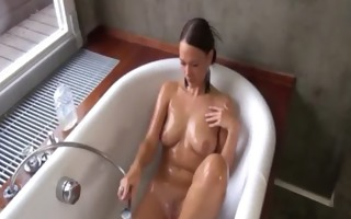 gaping and gyno dildoing her enchanting pussy