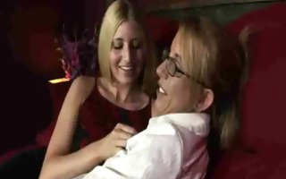 blonde secretaries, desire moore and larin lane l