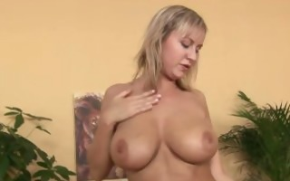 amazing blond with huge juggs