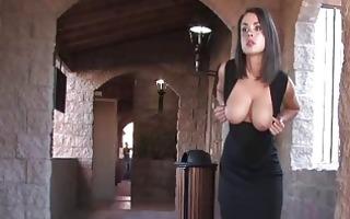 paige breasty dark brown playgirl flashing