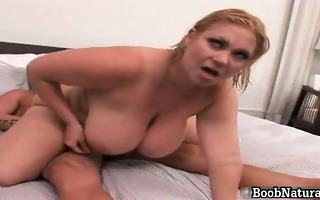 horny blond big boobed milf slut