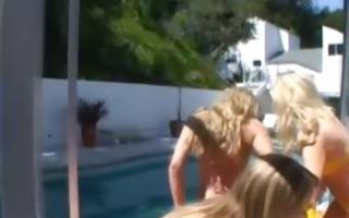 cfnm hawt bikini group outdoor femdom