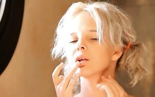 shaving of impressive 18yo blond pussy