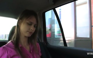 sex with my breasty princess in the car