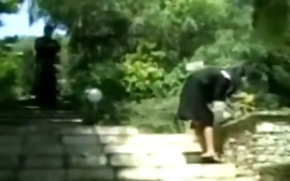nun drilled by a monk