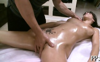 oil massage with moist blowjob