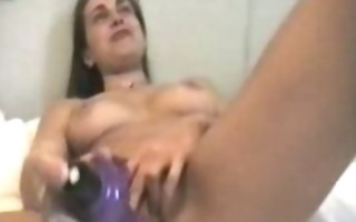 large purple toy insertion