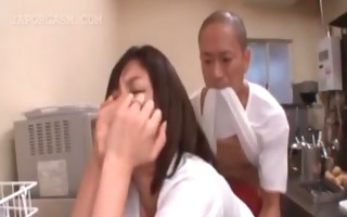 big titted japanese getting coarse sex at work